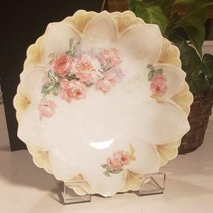 Vintage RS Prussia floral porcelain bowl
